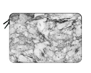 Macbook Sleeve Casetify Grate and White Marble Macbook