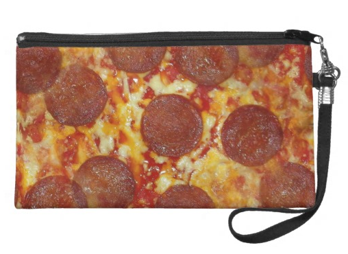 Pepperoni Pizza Wristlet Purse -  Food Accessory